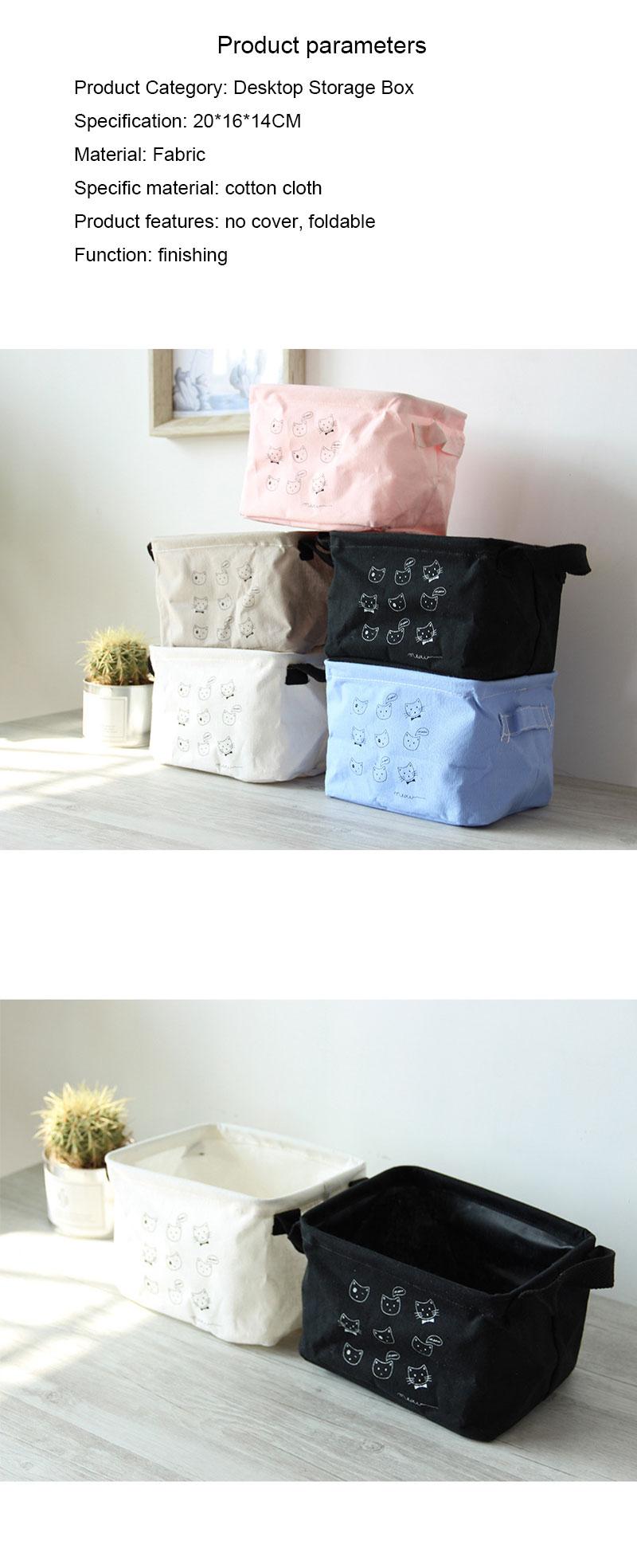 Fabric Multi-function Desktop Tissue Box Cotton And Linen Tissue Holder Cover YI