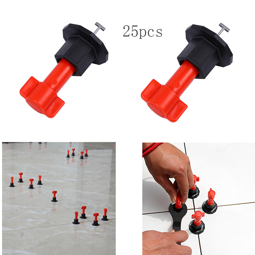 25 Pcs Tile Alignment Tile Leveling Wedges Clip Adjustable Locator Plier Spacers Level Wedges Hand Leveler Plier Auxiliary Tool