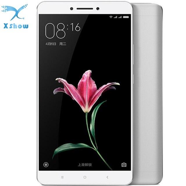 Оригинал Xiaomi Mi Max Snapdragon650 Гекса Основные Отпечатков Пальцев ID Full Metal FDD LTE 4 Г 16MP 6.44 1080 P 4850 мАч Мобильных Телефонов