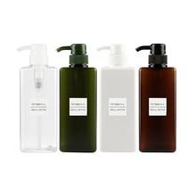 650ml Dropship פלסטיק ריק משאבת Dispenser בקבוק שיער יופי שמפו קרם מקלחת ג ל נסיעות Refillable בקבוקי מיכל