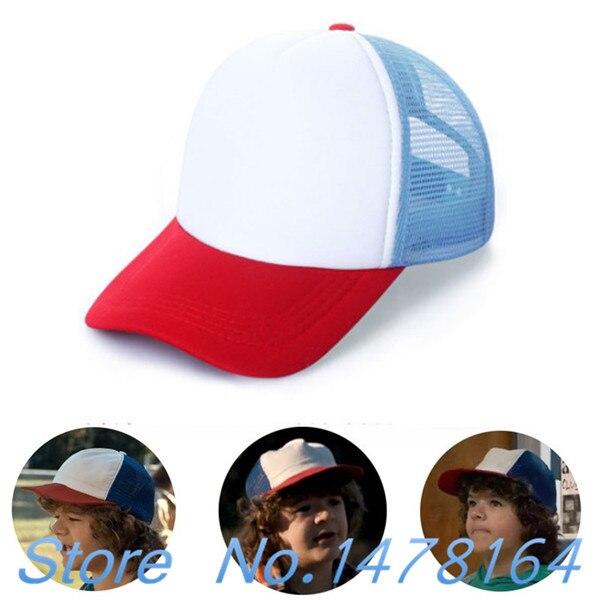 Stranger Things Drama Dustin Cosplay Snapback Caps Baseball Mesh Trucker  Cap Hat adjustable for Kids   3b639e3d2b83