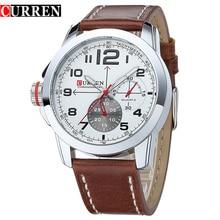 Alta Calidad CURREN Marca Reloj Militar Moda Hombres correa de Reloj de Cuarzo Relojes de Pulsera Para hombres Relogio