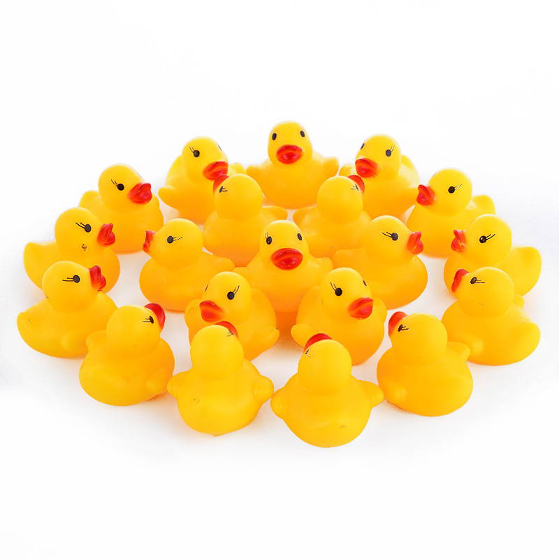 Lower Price with 10 Pcs Mini Yellow Duck Toys Squeaky Rubber Ducks Bathing Toys Baby Playing Water Bath Shower Toy Souding Talking Duckie Gadget Bath Toy