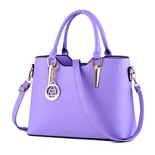 цена на Fashion Purple Elegant PU Women Handbag Casual Office Lady Shoulder Bag Tote Crossboday Messenger