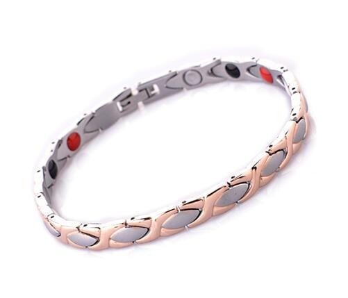 Silver And Rose Gold 316l Stainless Steel Bio Magnetic Health Energy Bracelet Neodymium Therapy For Women Balance In Hologram Bracelets From