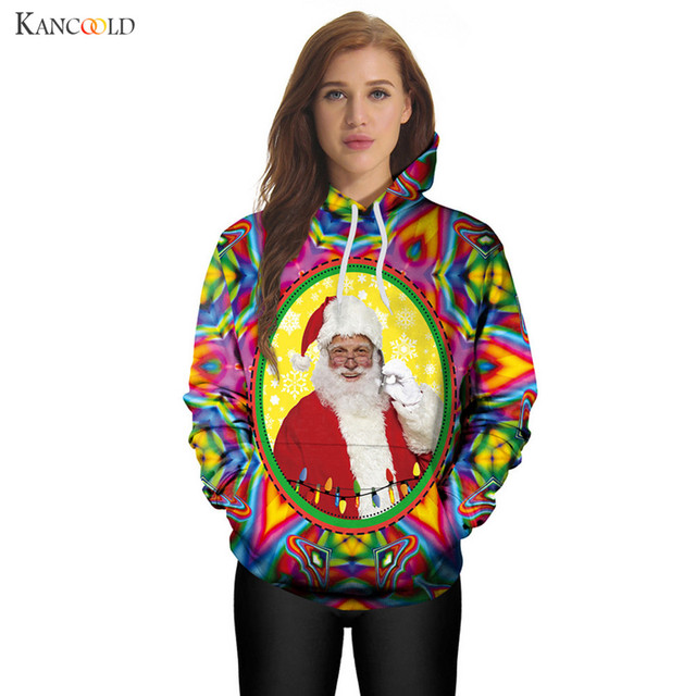 women christmas sweatshirt fashion design hoodies christmas printing pullover hoodie sweatshirt pullover tops female se133