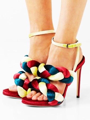 New arrivals braid stiletto sandals 3