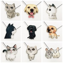 PGY Cute pet Acrylic Animal Kawaii Cat Brooch Dog Hamster Brooch for Women Pin Badges Fashion Children's jacket Coat Accessories