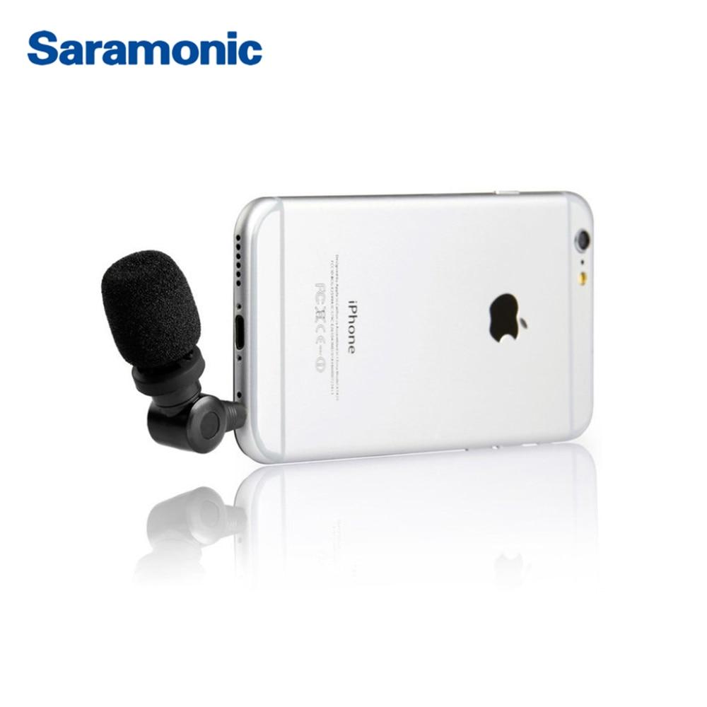 dff792729d4 Saramonic i Mic TRRS Professionale A Condensatore video Microfono per iPhone,  iPad, iPod Touch e Mac del telefono in Saramonic i-Mic TRRS Professionale A  ...
