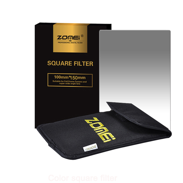 Zomei filtro cuadrado 100mm x 150mm graduado densidad neutra gris GND248 ND16 100mm * 150mm 100x150mm para Cokin Z PRO Series filtro