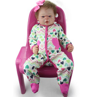 Full Body bebe reborn Full Silicone Reborn Baby Alive Girl Dolls menina de silicone menina silicone realista toy doll brinquedos