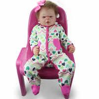 Volle Körper bebe reborn Volle Silikon Reborn Baby Leben Mädchen Puppen menina de silikon menina silikon realista spielzeug puppe brinquedos