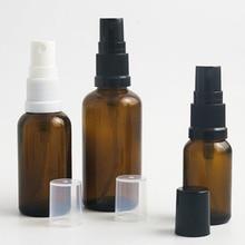 цена на Free Shipping 500 x 100ml amber glass cosmetic bottle, 100cc oil spray bottle, fine sprayer glass bottle, pump glass container