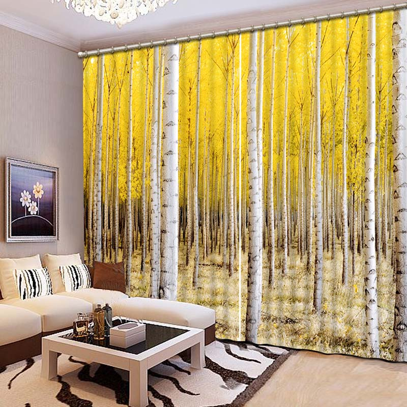 3D Blackout Curtains Lifelike Noble Refined Elegant 3D Window Curtains  Bedroom Living Room Drapes Cortinas De