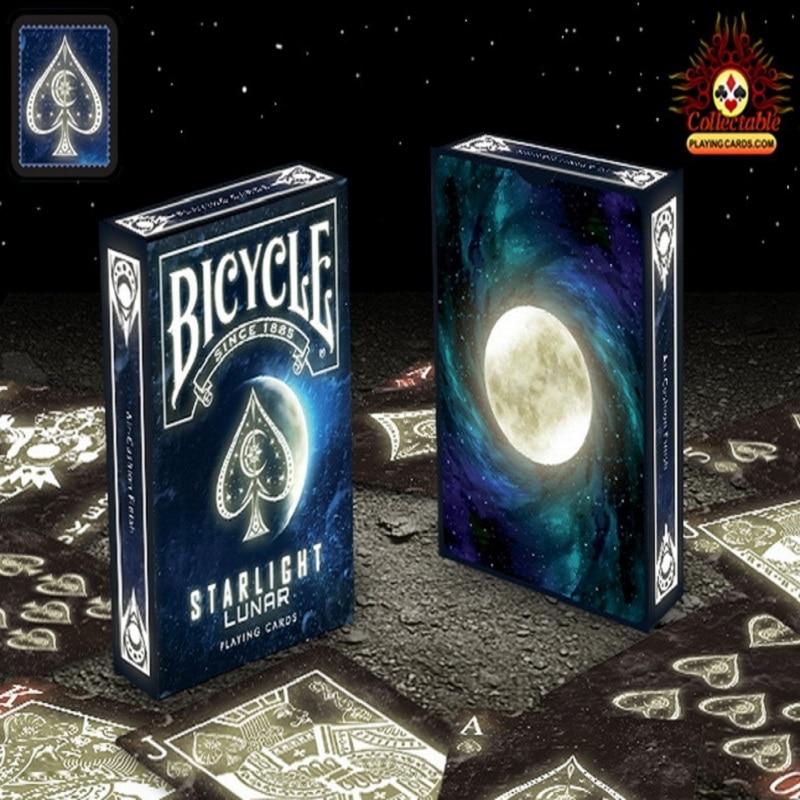 1 Däck Cykel Starlight Lunar Playing Card Magic Cards Poker Närbild Stage Magic Tricks för Professional Magician Free Ship