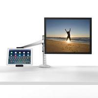 OA-8Z Höhenverstellbar Doppel Arm 27 zoll Monitor Halter + Doppel Arm Tablet PC Ständer 360 Grad Drehbare computer-schreibtische