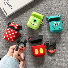 Cute Cartoon Wireless Bluetooth Earphone Silicone Case For Apple AirPods Charging Headphones Cases For Airpods Protective Cover