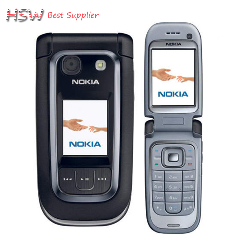 Refurbished Original Nokia 6267 Filp Unlocked Mobile Phone Quad Band Phone Russian Keyboard Free Shipping