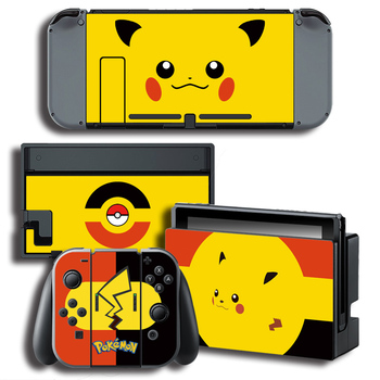 The Legend of Pokemon Pikachu Vinyl Skin Stickers for Nintendo Switch Console Protector Cover Decal Vinyl Skin for Skins Sticker