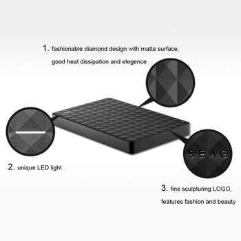 """シーゲイトポータブル 1 テラバイト HDD 2.5 \""""外部ハードドライブ 1 テラバイト/2 テラバイト/4 テラバイト USB 3.0 黒ハードディスクコンピュータのラップトップディスコ Duro Externo"""