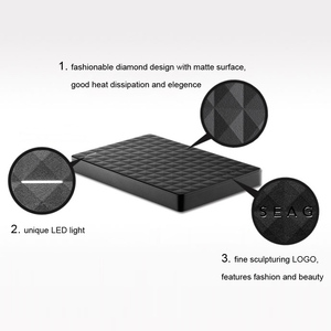 """Image 5 - سيجيت المحمولة 1 تيرا بايت HDD 2.5 """"قرص صلب خارجي 1 تيرا بايت/2 تيرا بايت/4 تيرا بايت USB 3.0 قرص صلب أسود للكمبيوتر المحمول ديسكو دورو Externo"""