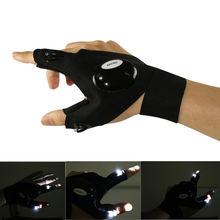 Светодиодные перчатки для активного отдыха спорта кемпинга походов