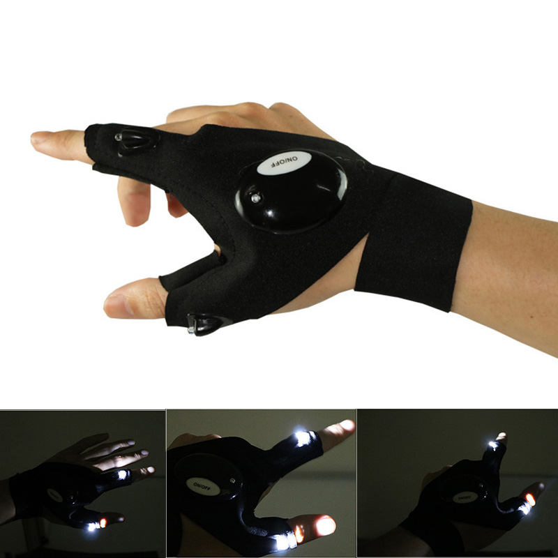 LED Licht Handschuhe Finger Auto Reparatur With Flashlights Camping-Im