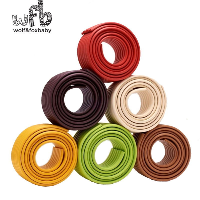 Wholesale New Free Shipping 2m/pack Baby bumper strip Baby Safety Corner protector Table Edge Corner Cushion without Sticker2014
