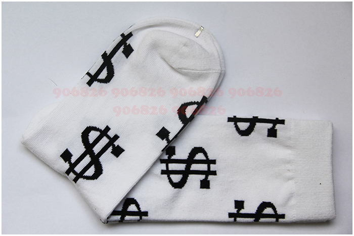 40d64789c7dd5 Unisex Money Printed Cotton Calcetines Sox US Dollar Sign Mens Socks Men  Socks Fashion Happy Socks 12pairs/lot Wholesale-in Men's Socks from  Underwear ...