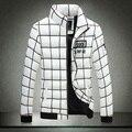 Costura de algodão jaqueta acolchoada Dos Homens de inverno dos homens casaco masculino masculino borda costura malha