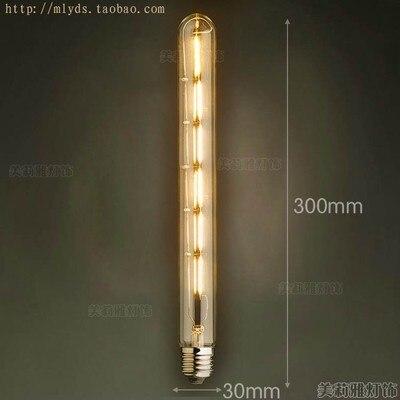 4 Вт E27 220 В светодиодный светильник для декора, лампада Эдисона, винтажный декоративный светильник с ампулами T10 G80 G95 ST64 T225 T30