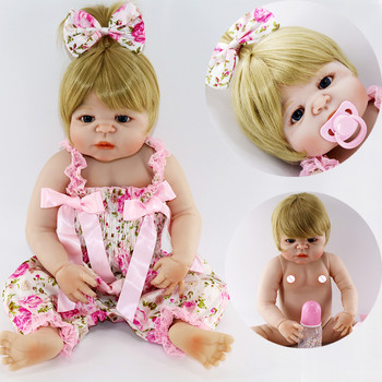 White skin bebe Reborn Baby Doll fashion Girl Princess 23 inch Baby Dolls Alive Reborns cute Toy For kids Best Christmas present
