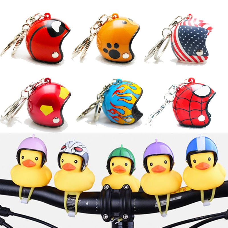 Funny Yellow Duck With Helmet Bicycle Bell Ring Bell For Car Cycling Bicycle Bike Ride Horn Alarm Adult Kids Toy