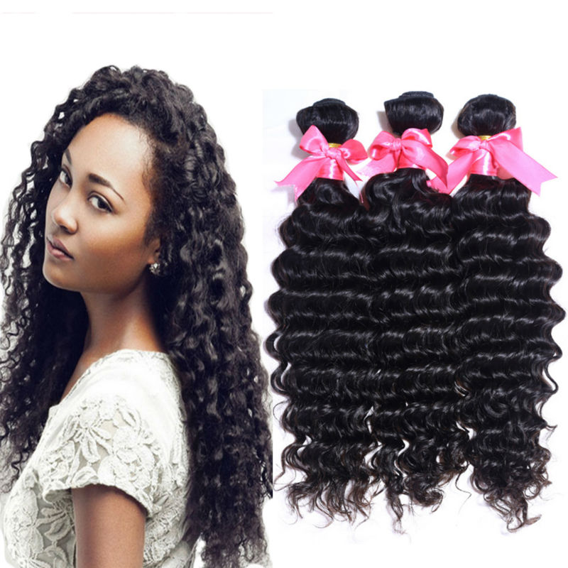 Malaysian Curly Hair Deep Wave 4Bundles Malaysian Virgin Hair Deep Wave 6A Cheap Human Hair Weave 100g Malaysian Deep Wave