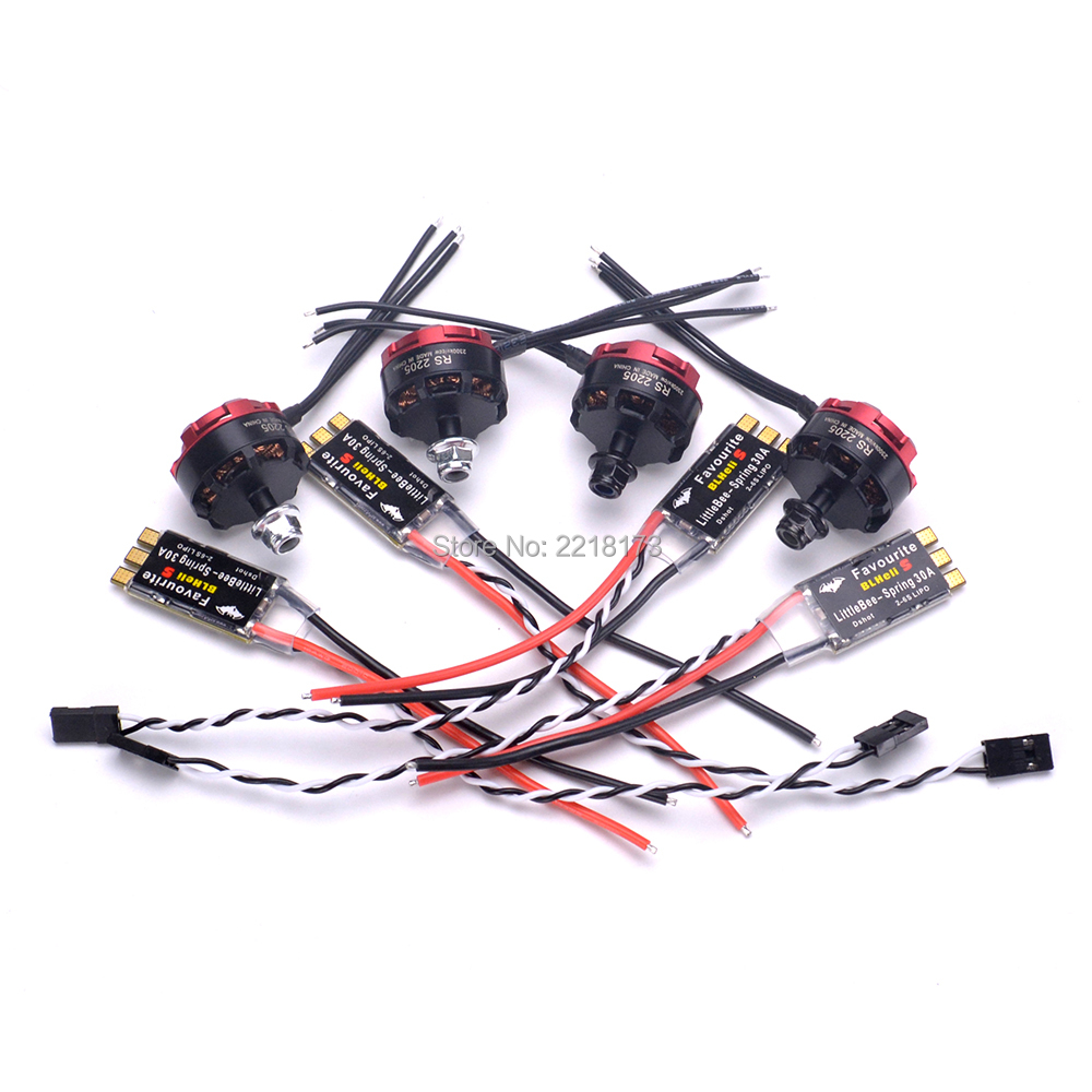RS2205 2300kv RS 2205 Brushless Motor 3-4S + Littlebee Little bee BLHelis-s 30A 2-6S ESC For Robocat 270 FPV Racing Drone emax f4 magnum tower parts bullet 30a 4 in 1 blheli s esc 2 4s built in current sensor for fpv racing drones brushless motor