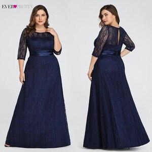 Image 4 - Elegante vestidos de noite tamanhos grandes longo 2020 sempre bonito ep08878gy a linha de renda meia manga cinza formal vestidos de festa para o casamento