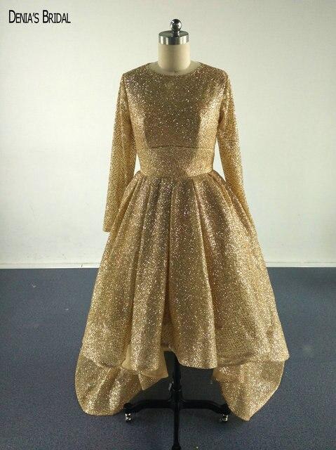 2017 Gold Glitter Abendkleider mit Scoop Ausschnitt Pailletten ...