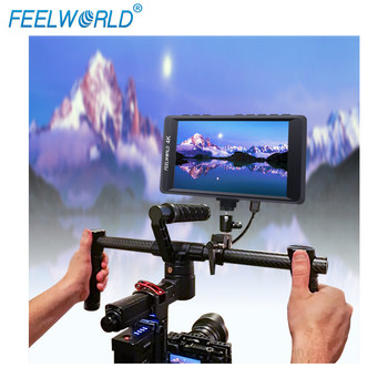 """Feelworld F450 4.5"""" IPS 1280x800 HD 4K Camera Field Monitor with HDMI Input/Output 4K UHD Peaking Focus Check Field LCD Monitor"""