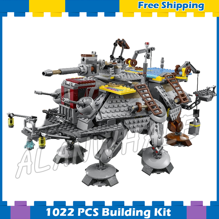 1022pcs New Space Wars Universe Captain Rex's AT-TE Tanks 05032 Model Building Blocks Assemble Gifts Sets Compatible with Lego lepin 1022pcs star series wars captain rex s at te building blocks brick lepin 05032 boys toys gift compatible legoingly 75157