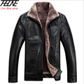 Winter Jacket Men PU Leather Fur Coat Fleece Sheepskin Fashion Warm Full Pelt Wool Liner Suede Leather Jackets for Men 4XL