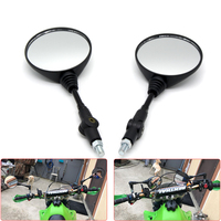 Custom 8mm 10mm Universal Motorbike Rearview Mirror Motorcycle Mirror Folding Side Mirrors For Yamaha Honda Suzuki