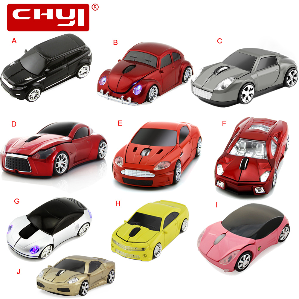 Wireless Sports Car Mouse Ergonomic 1600DPI A Collection Of Famous Cars USB Mouse Optical Mice Mause For Computer PC Laptop