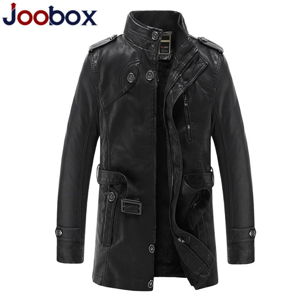 JOOBOX New arrive Leather Jacket men Brand Male Bomber ...