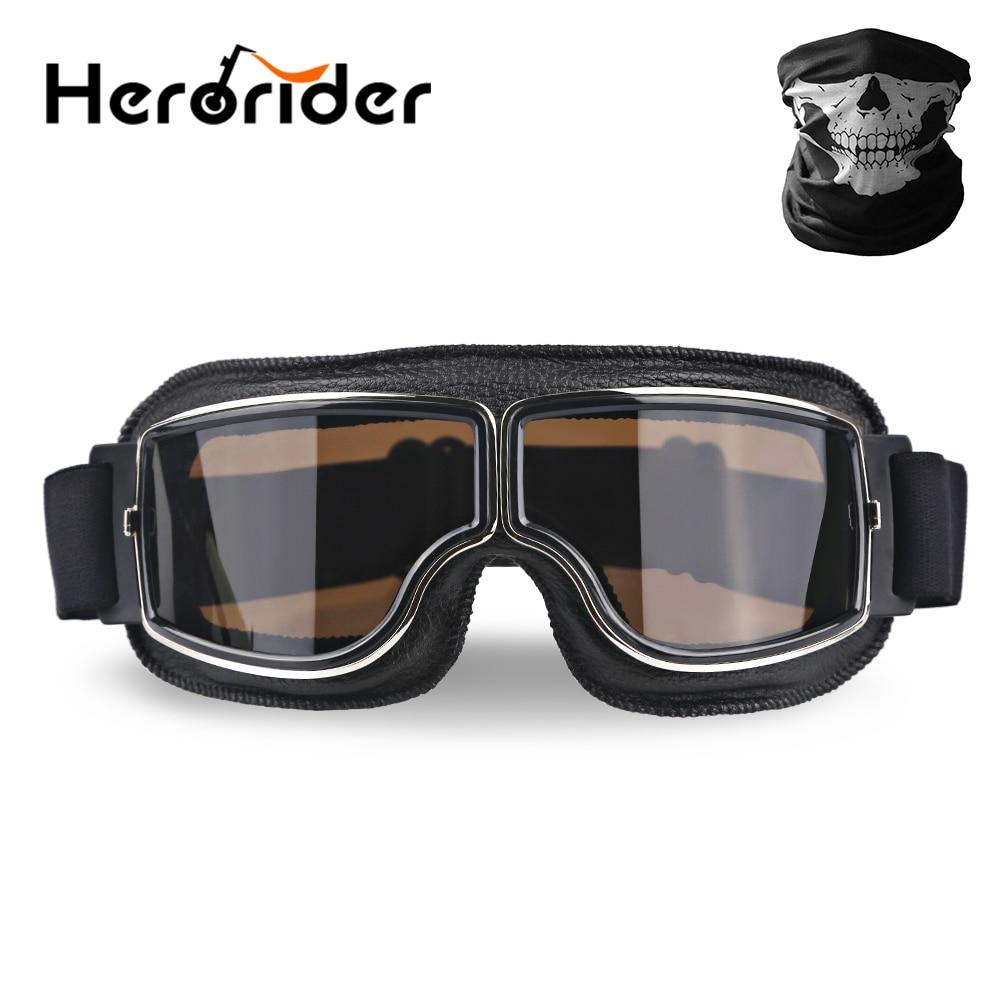 Universal UV protección Retro Vintage motocicleta gafas moto Scooter gafas para bicicleta Motor gafas de sol