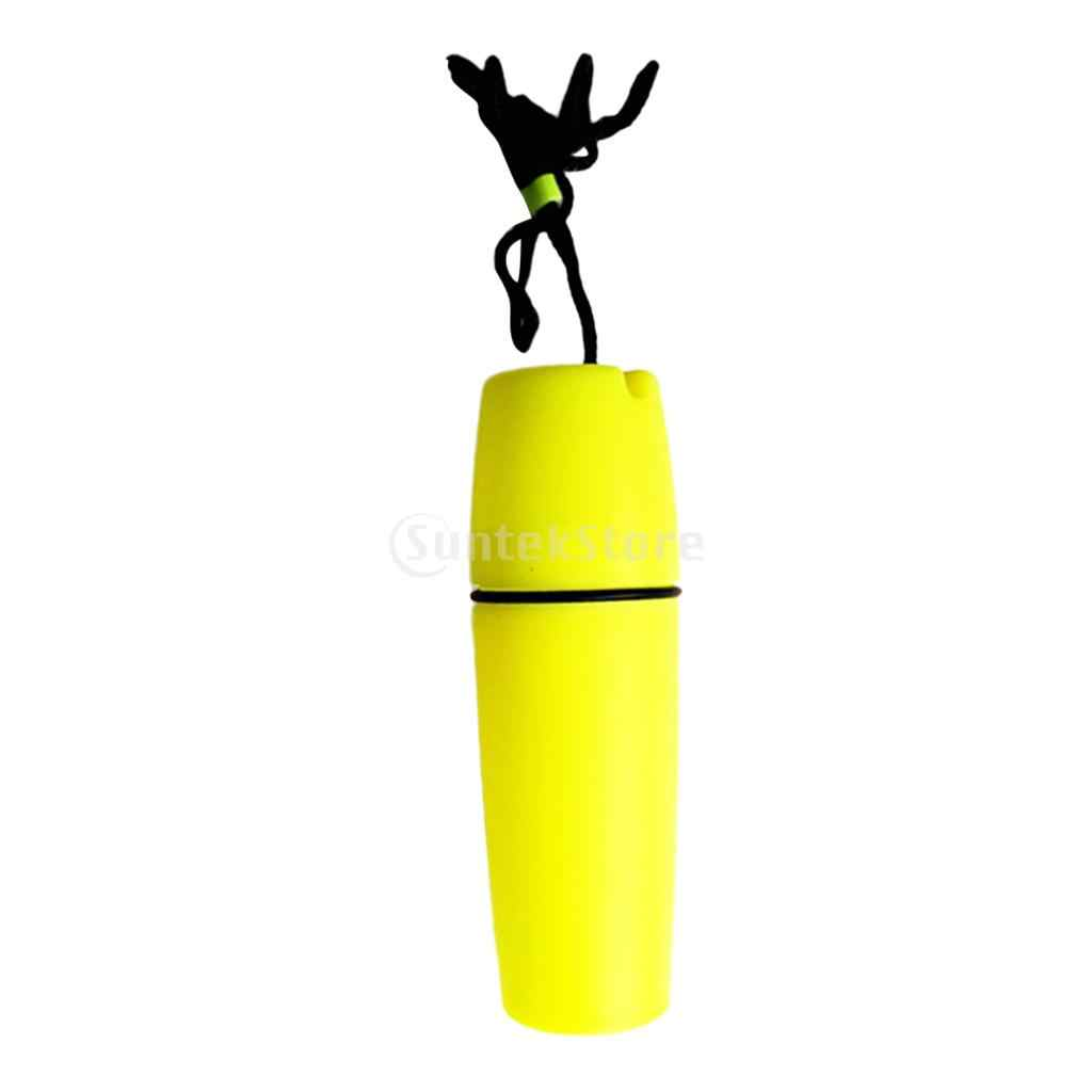 Tahan Air Kapsul Wadah Penyimpanan Case Botol & Leher Lanyard untuk Scuba Diving Snorkeling Kayak Kano Olahraga Air