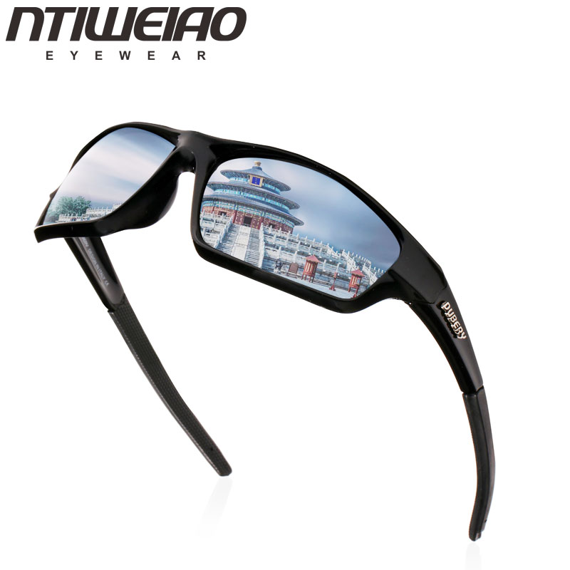 NTIWEIAO Sports Driver Polarized Sunglasses Men's Retro Male Sun Glasses For Men Cool Brand Luxury Mirror Shades Oculos