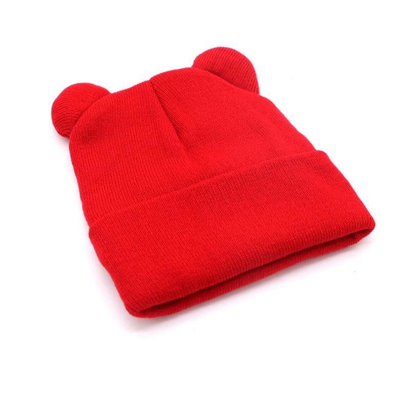 1pcs Hat Female Winter Caps Hats For Women Devil Horns Ear Cute Crochet Braided Knit Beanies Hat Warm Cap Hat Bonnet Homme Gorro 3
