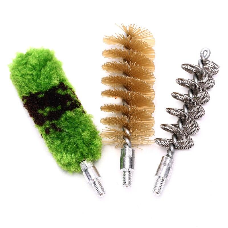 3Pcs/set Tube Brush Head Clean Brush Tool Set For 12GA Gun Brush Tool Hunting Accessories Professional Gun Cleaning Kit