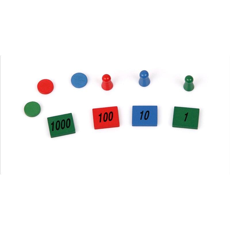Bois bébé jouet Montessori timbre jeu maths pour l'éducation de la petite enfance préscolaire formation enfants jouets Brinquedos Juguetes - 4
