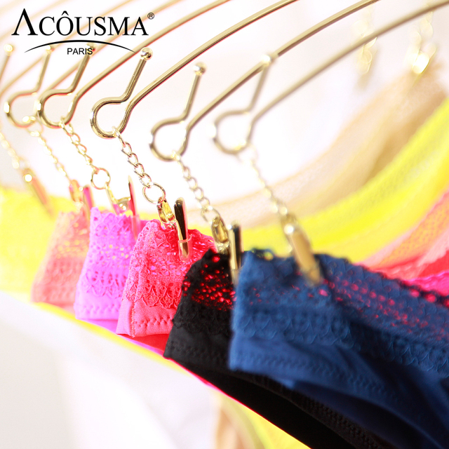 ACOUSMA Women G-String Hollow Out Lace Sexy T Back Thongs Panty Underwear Seamless Breathable Farbic Low Waist 8 Colors Optional 6